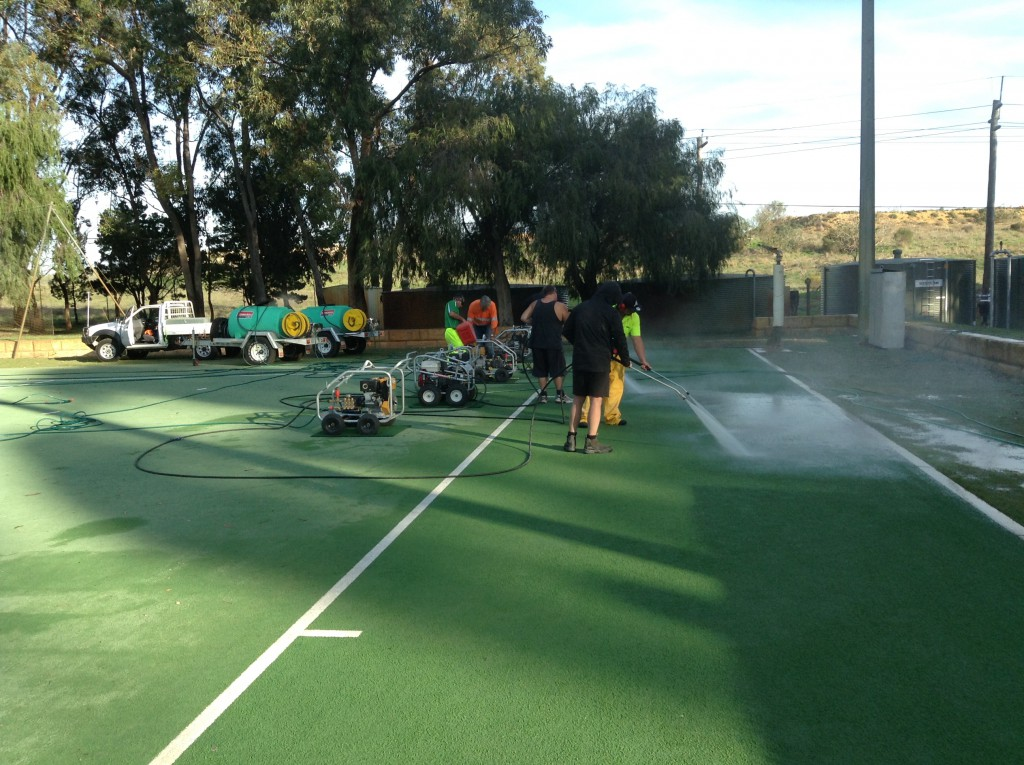Hockey Turf Cleaning at UWA Hockey Club