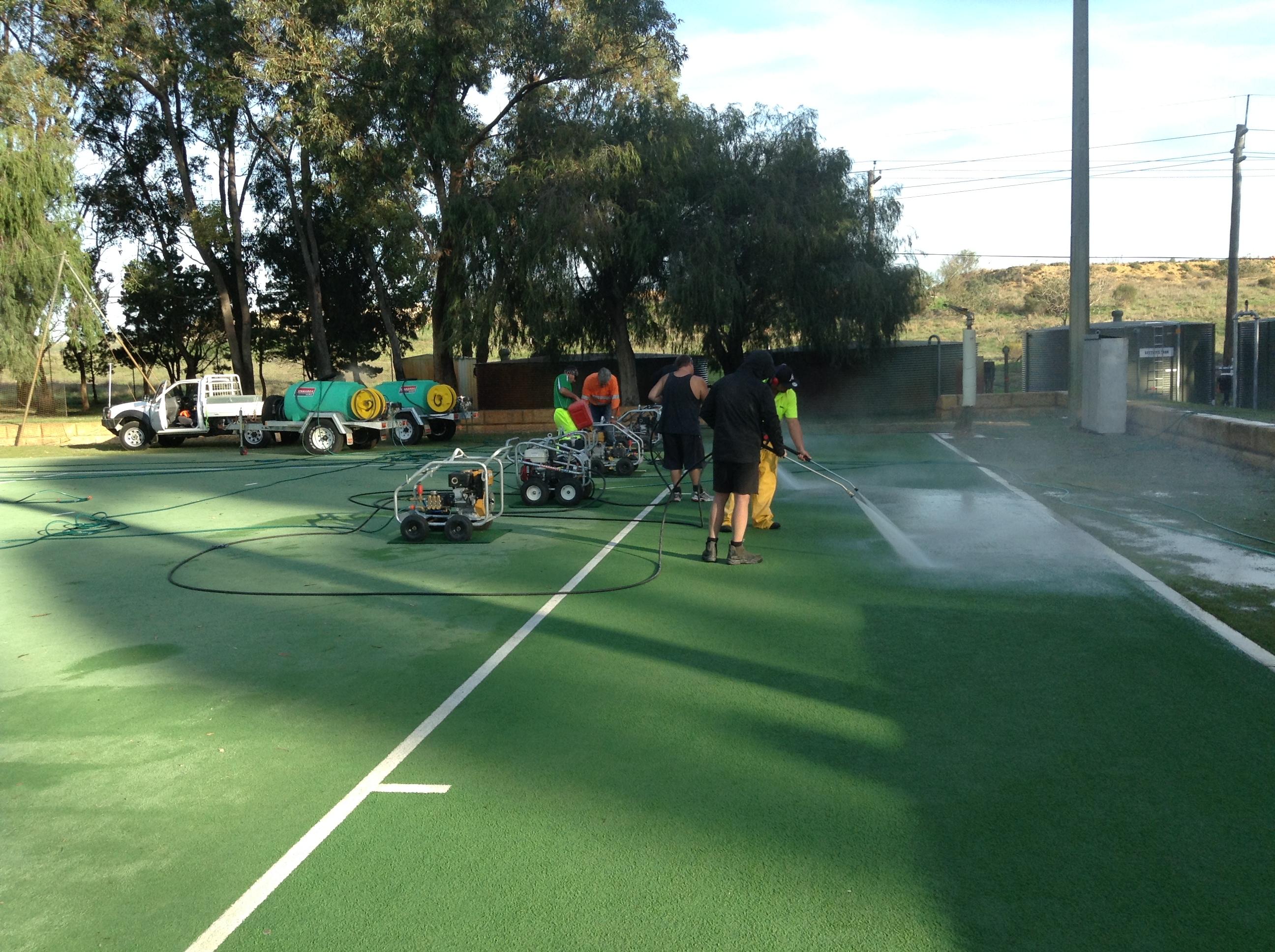 Hockey Turf Cleaning at UWA Hockey Club
